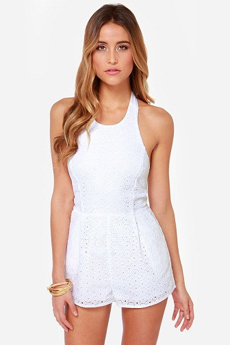 d159ca63a84f 9 Latest White Rompers For Women In Trend