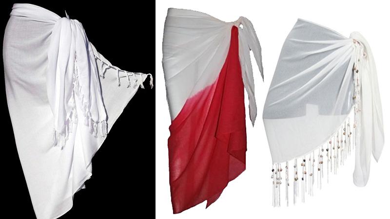 White sarongs