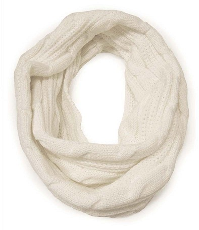 White Snood Scarf