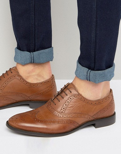 Wide Feet Oxford Brogue Shoes