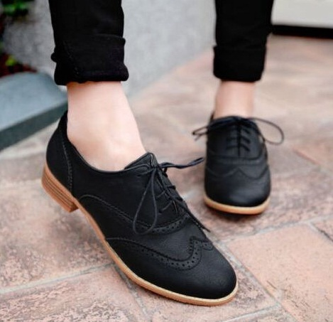 Women's Black Oxford Brogues