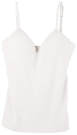 Women's Padded White Camisole Top