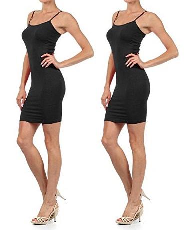 Yelete Seamless Spaghetti Strap Cami Slip Dress
