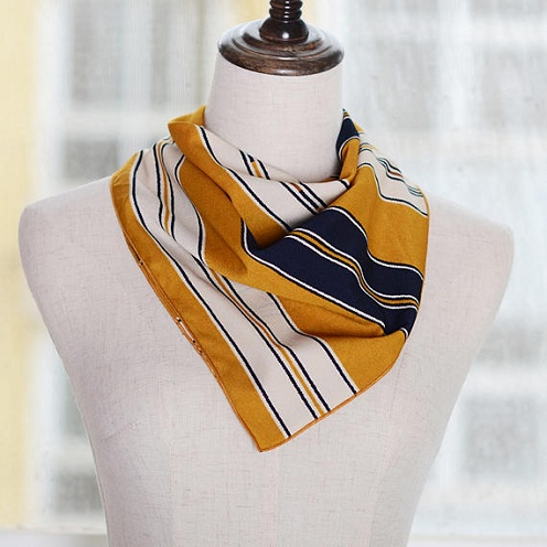 Yellow Square Neck Scarf