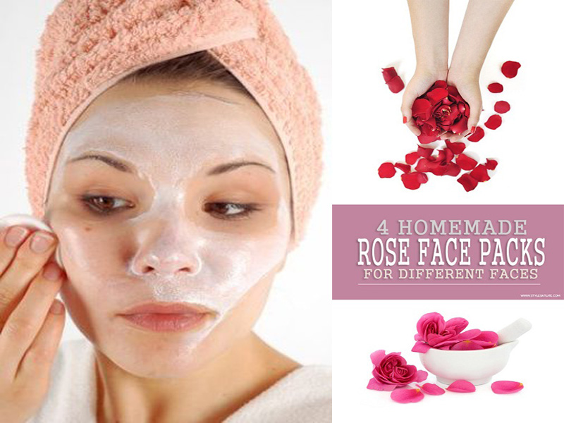 rose face packs