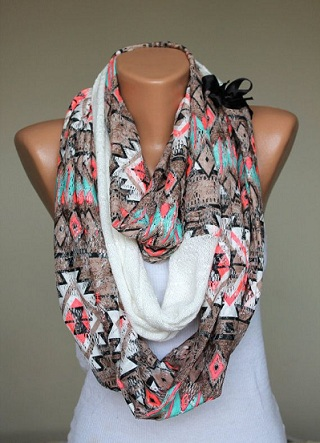 Tribal Printed Scarf for Young Girls