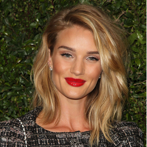 Side Parted Blonde Medium Hairstyle