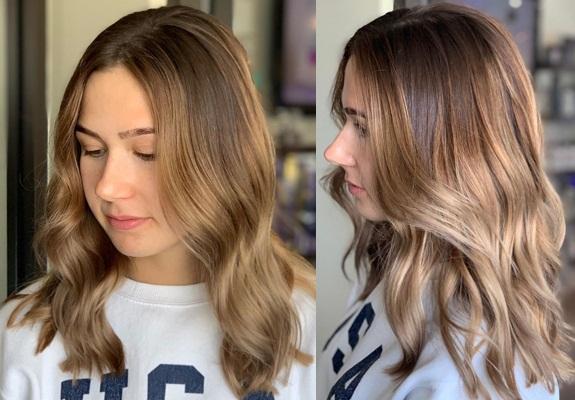 Medium Blonde with Brown Highlights