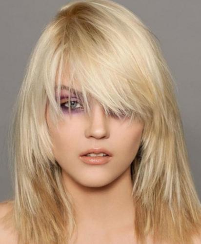 Sharp Medium Blonde Hairstyle