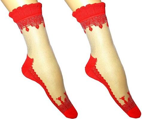 Ankle Length Socks Red