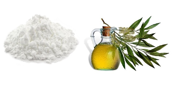 Baking Soda and Tea Tree Oil for dandruff cure
