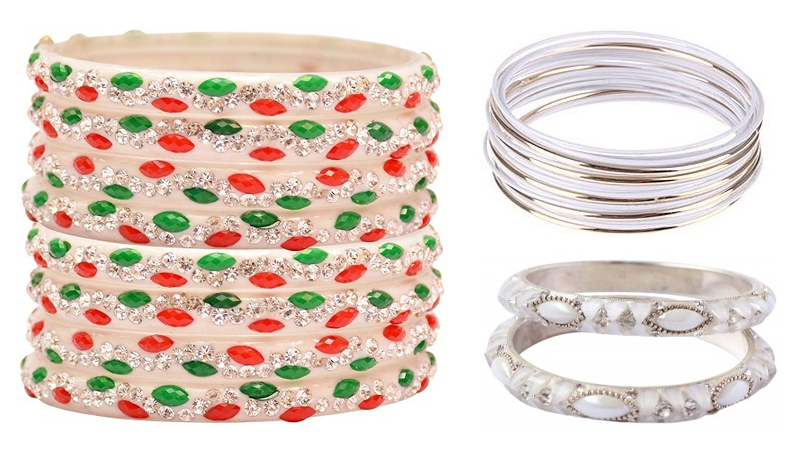 White Colour Bangles