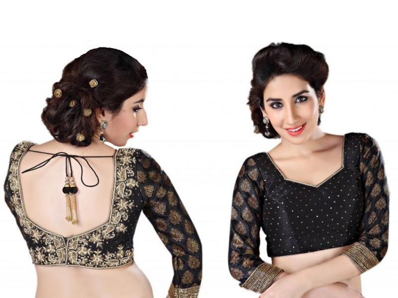 Beautiful Black Blouse Designs With Pictures