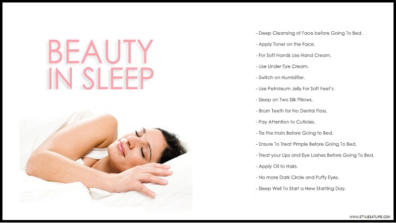 Beauty tips Before Going To Bed