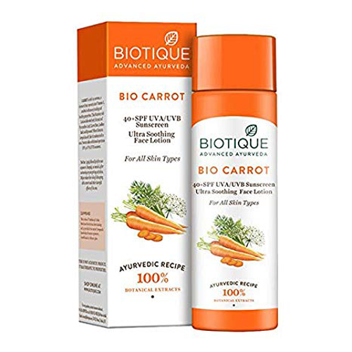 Biotique Bio Carrot Face and Body Sun Lotion SPF 40