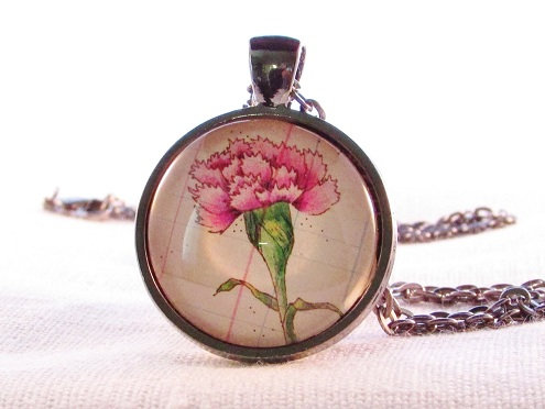 Birth Month Floral Necklace
