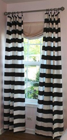 Black Stripe Curtain