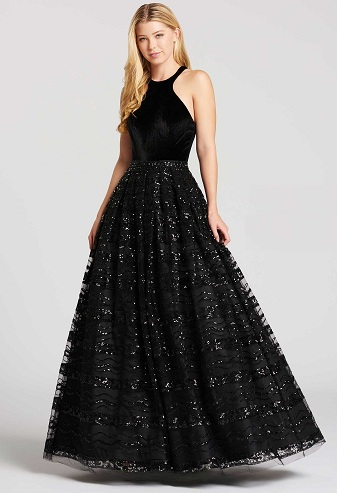 e78eb7f10 A Black velvet dress is also a wonderful party choice as it is rich and  regal in looks. The velvet dress is teamed with sequins and this gives this  ball ...