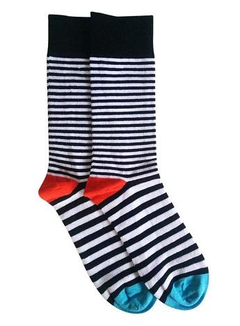 Black and White Printed Socks