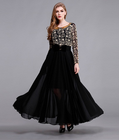 da74ed8de6c This is a stylish party frock design for teenagers. It comes with flowery  embroidery on upper side and plane umbrella cut design on lower part.
