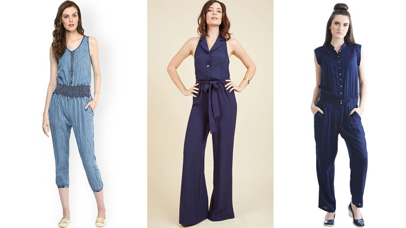 blue jumpsuits