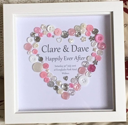 Button Heart Frame