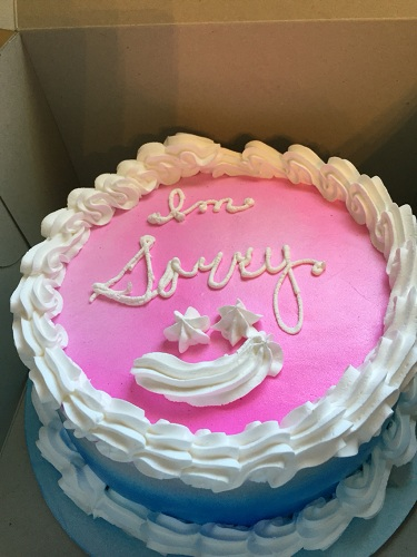 Cake Gifts with Sorry Message