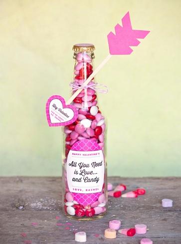 Candy Bottle Valentine's Gift