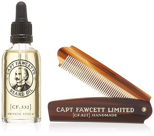 Captain Fawcett's Beard Oil and Pocket Beard Comb