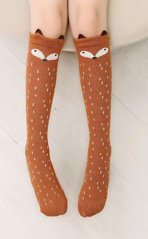 Cartoon Designed Knee Socks
