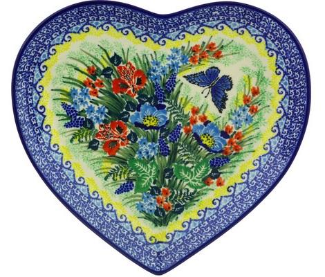 Ceramic Heart Shape Designer Plates
