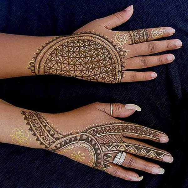 Single Line Mehndi Designs