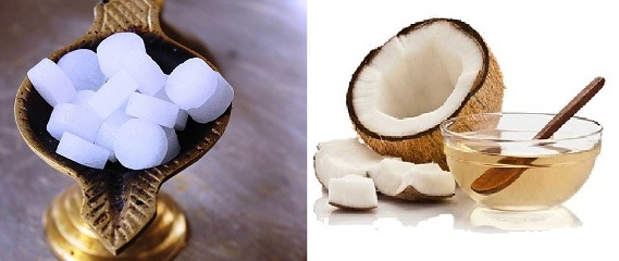 Coconut Oil With Camphor for dandruff