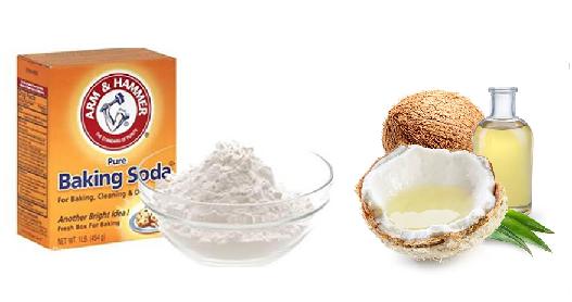 Coconut Oil and Baking Soda for dandruff