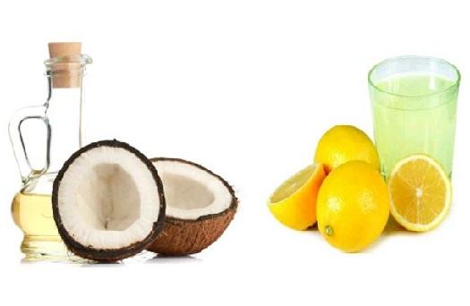 lemon juice and coconut oil for dandruff
