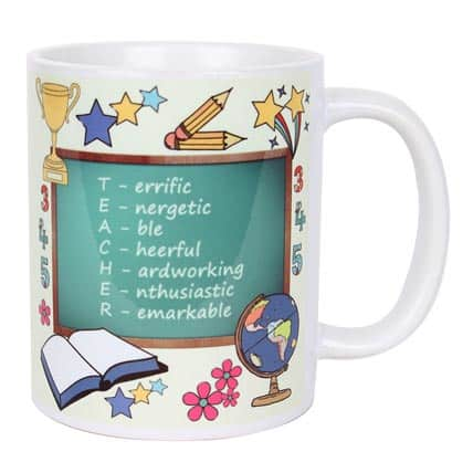 Coffee Mug with Teacher Abbreviation