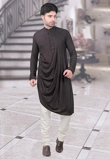 15 New and Handsome Black Kurta Pajama Designs   Styles At ...