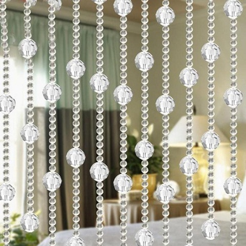 It Is Extremely Beautiful String Curtains With Beads This Curtain Having Crystal Of Small And Big Size Looks Clear Transparent