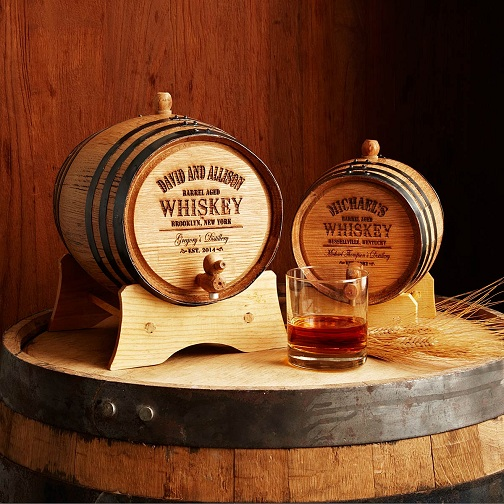 Customized whiskey Barrel