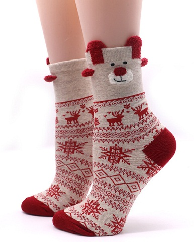 Cute Print Thermal Sock