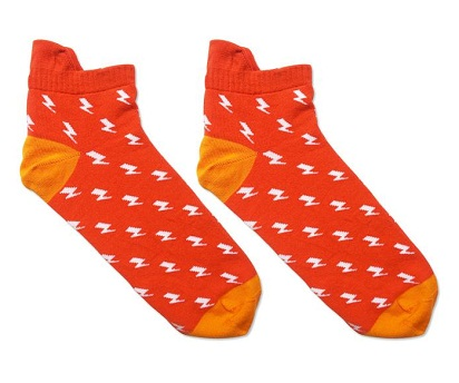 Cute Printed Socks Red