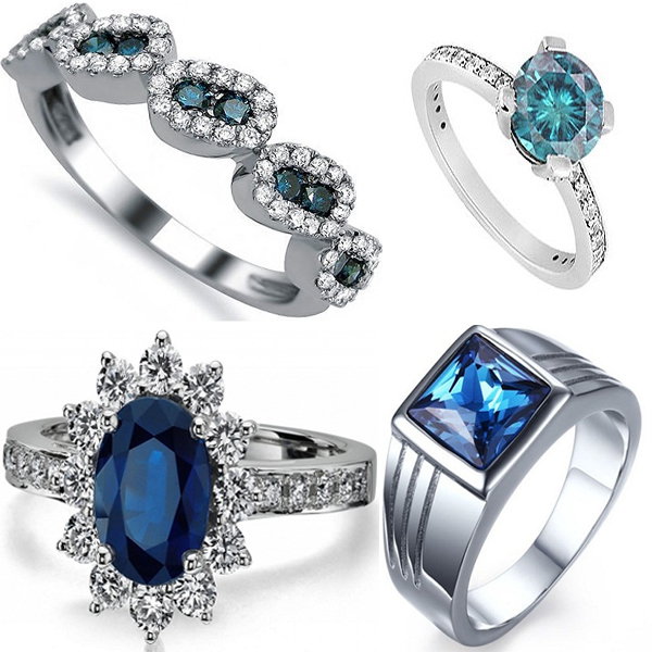 Blue Diamond Rings