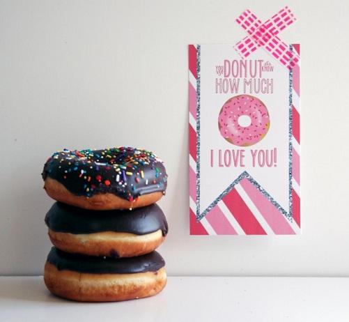 Donut Valentine Gift