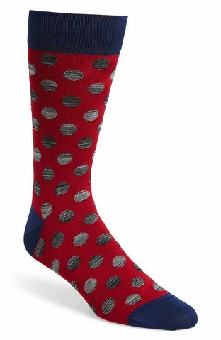Red Dotted Socks