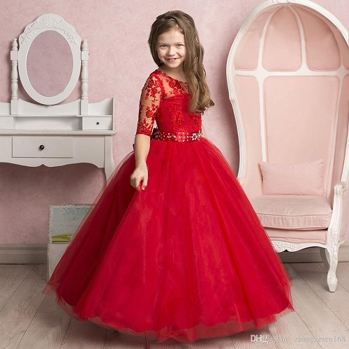 71dce86ef55e The half sleeve dress is perfect as a ball gown too. This party dress for  12 year olds is ...