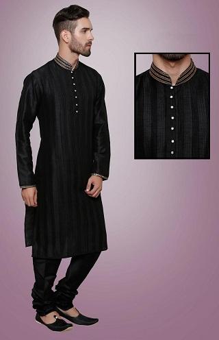 15 New And Handsome Black Kurta Pajama Designs Styles At Life