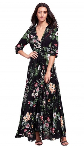 2f19df2dd25c Boho design long summer dresses is normally available as long dress. In  order to complement the long dress pattern designers highlighted the sleeve  and the ...