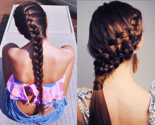 Simple and Double French Braid:
