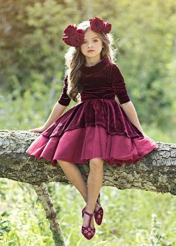 15 Gorgeous Velvet Frocks For Girl And Women Styles At Life
