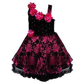 19bbad3209f2 This is an excellent party wear velvet frock for kids. This dress is made  of high quality net and brasso velvet material. It is suitable as a party  wear.